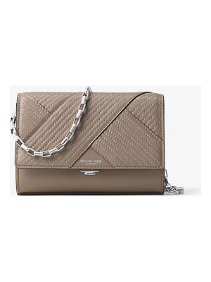 MICHAEL KORS COLLECTION Yasmeen Small Quilted-Leather Clutch
