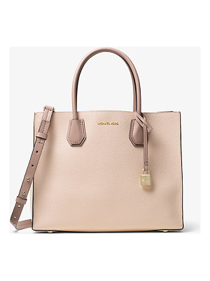 MICHAEL KORS STUDIO Mercer Large Color-Block Leather Tote