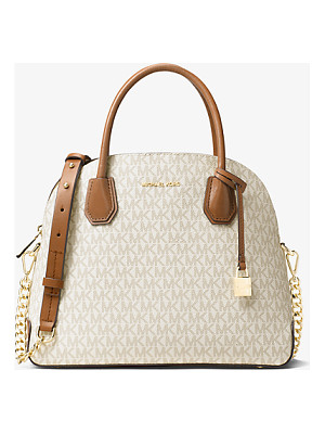 MICHAEL KORS STUDIO Mercer Large Logo Dome Satchel