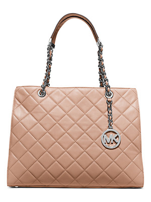 Michael Kors Susannah Large Quilted-Leather Tote