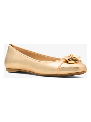 MICHAEL MICHAEL KORS Alice Metallic Leather Ballet Flat