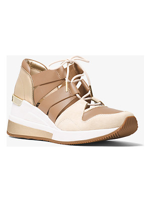 MICHAEL MICHAEL KORS Beckett Suede And Leather Sneaker