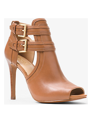 MICHAEL Michael Kors Blaze Open-Toe Leather Bootie