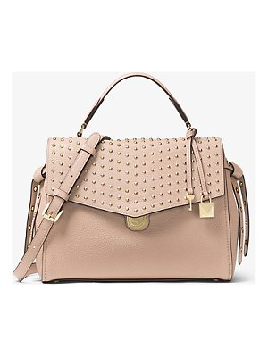 MICHAEL MICHAEL KORS Bristol Studded Leather Satchel