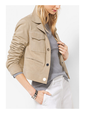 MICHAEL Michael Kors Cropped Suede Jacket