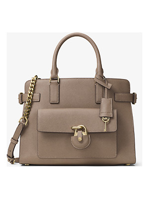 MICHAEL MICHAEL KORS Emma Saffiano Leather Satchel