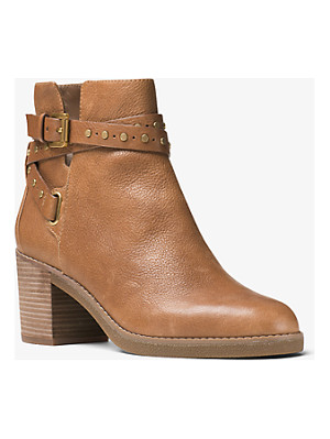 MICHAEL MICHAEL KORS Fawn Leather Ankle Boot