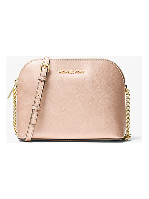 MICHAEL MICHAEL KORS Jet Set Large Metallic Leather Crossbody