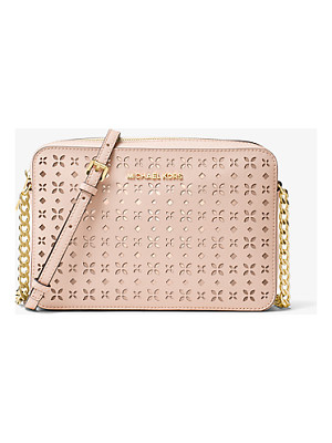 MICHAEL MICHAEL KORS Jet Set Travel Large Perforated-Leather Crossbody