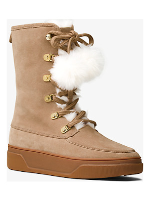 MICHAEL MICHAEL KORS Juno Suede And Fur Boot