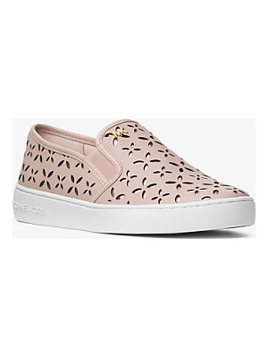 MICHAEL Michael Kors Keaton Perforated Leather Slip-On Sneaker