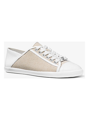 MICHAEL MICHAEL KORS Kristy Canvas And Leather Sneakers