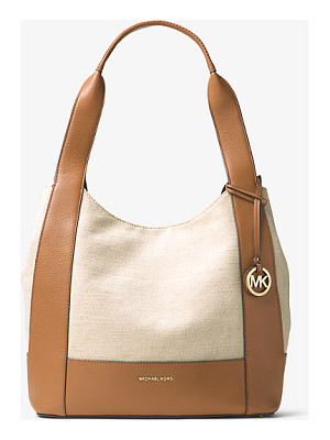 MICHAEL MICHAEL KORS Marlon Large Canvas And Leather Tote