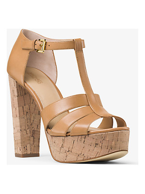 MICHAEL MICHAEL KORS Mercer Cork Platform Leather Sandal