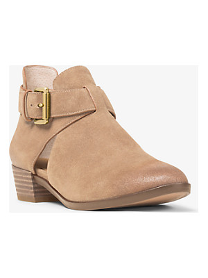 MICHAEL MICHAEL KORS Mercer Cutout Suede Ankle Boot