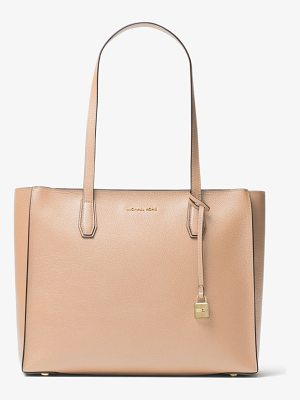 MICHAEL MICHAEL KORS Mercer Large Top-Zip Leather Tote
