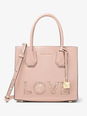 MICHAEL MICHAEL KORS Mercer Love Leather Crossbody