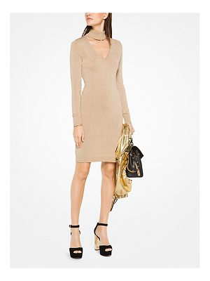MICHAEL MICHAEL KORS Metallic Cotton-Blend Cutout Dress