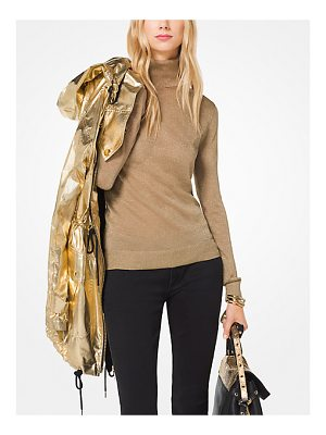 MICHAEL Michael Kors Metallic Turtleneck Pullover