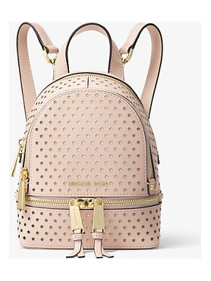 MICHAEL MICHAEL KORS Rhea Mini Perforated Leather Backpack