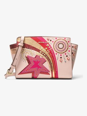 MICHAEL MICHAEL KORS Selma Embellished Leather Messenger