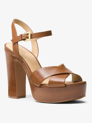 MICHAEL MICHAEL KORS Sia Leather Platform Sandal