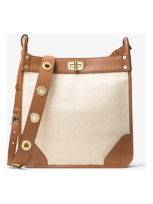 MICHAEL MICHAEL KORS Sullivan Large Leather And Linen Messenger