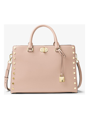 MICHAEL MICHAEL KORS Sylvie Large Studded Leather Satchel