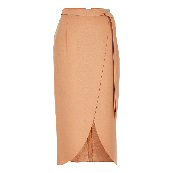 RIVER ISLAND beige wrap midi skirt - Woven Midi skirt Tied waist Wrap design Our model wears a...