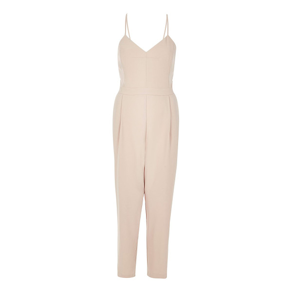 RIVER ISLAND light pink cami jumpsuit - Woven Cami neck Sleeveless Our model wears a UK 8 and is...