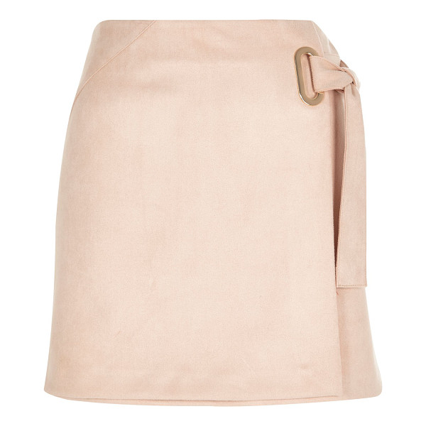 RIVER ISLAND light pink faux suede wrap skirt - Faux suede Wrap design Mini length Back zip fastening Our...