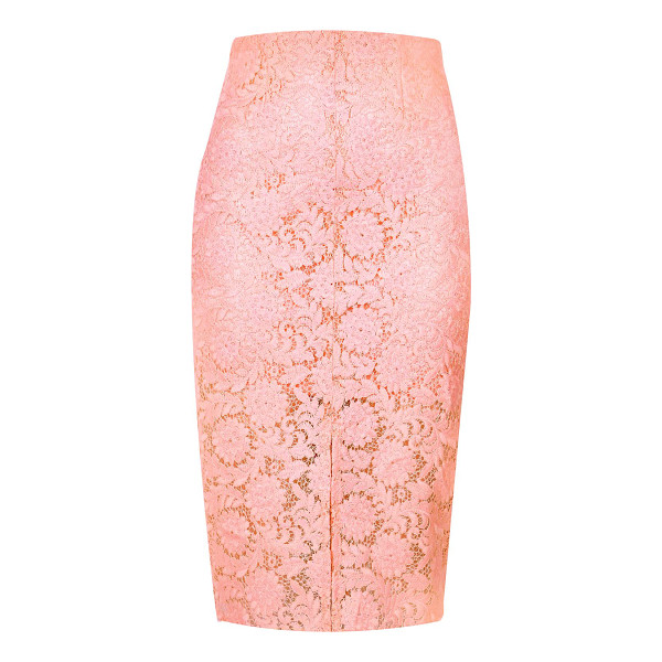 RIVER ISLAND light pink lace pencil skirt - Woven lace Fitted High waisted Split front Knee length Our...