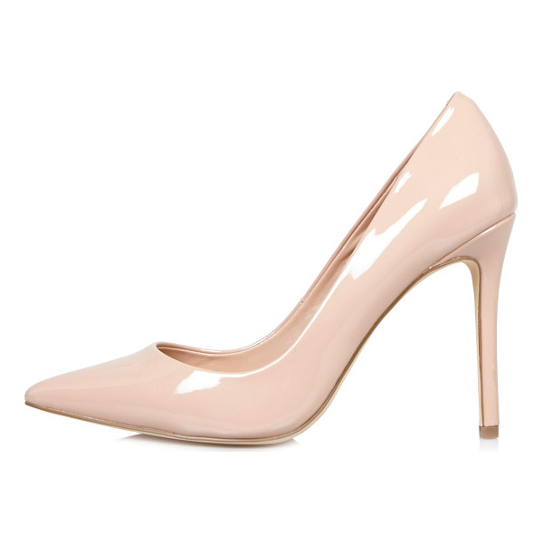 RIVER ISLAND light pink patent court heels - Patent upper Pointed toe Pumps Heel height 10.5cm
