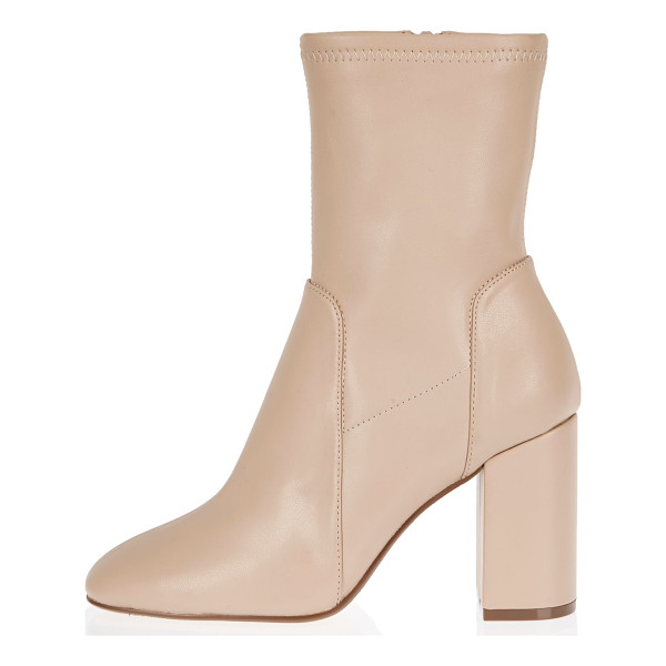 RIVER ISLAND light pink stretch ankle boots - Leather look Stretch ankle boot Round toe Block heel Heel...
