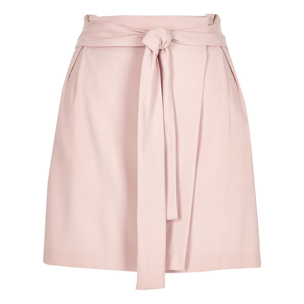 RIVER ISLAND light pink waisted wrap skirt - Choose this light pink woven skirt for a chic daytime look....