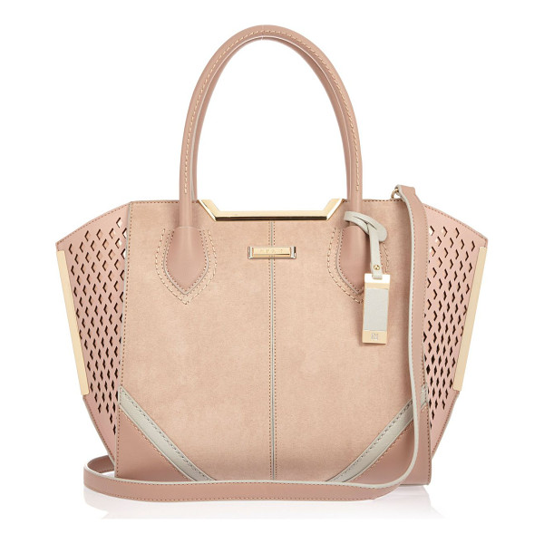 RIVER ISLAND pink laser cut winged tote handbag - Structured handbag Winged design Laser cut detail Zip top...