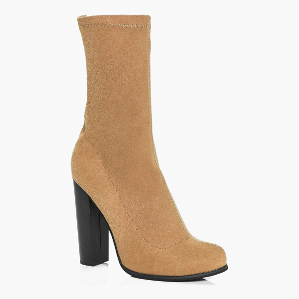 BOOHOO Abbie Jersey Sock Boot - We'll make sure your shoes keep you one stylish step ahead...