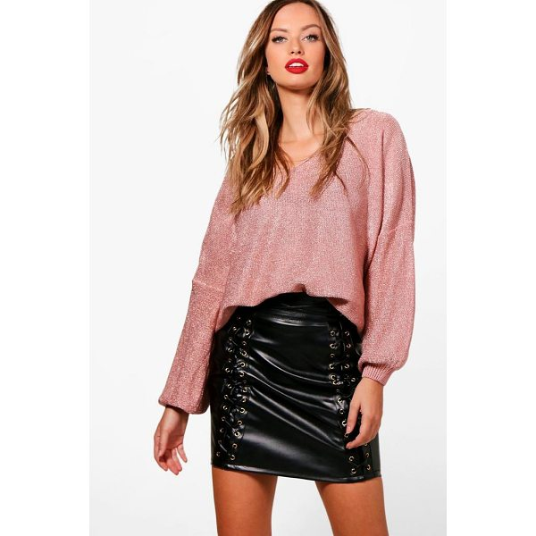 BOOHOO Abbie Metallic Jumper - Nail new season knitwear in the jumpers and cardigans that...