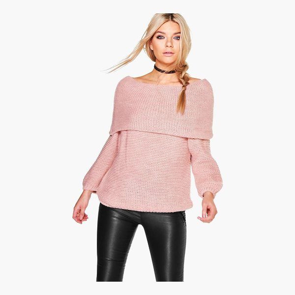 BOOHOO Abigail Bardot Jumper - Nail new season knitwear in the jumpers and cardigans that...