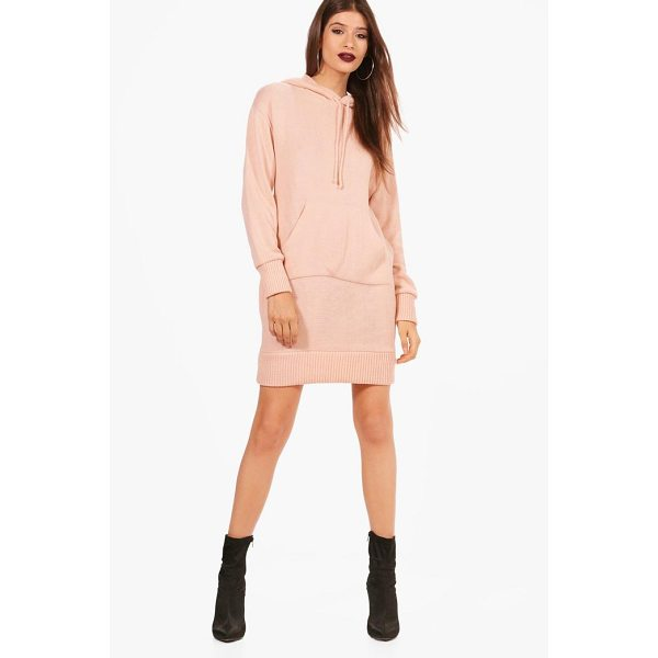 BOOHOO Abigail Hooded Jumper Dress - Nail new season knitwear in the jumpers and cardigans that...