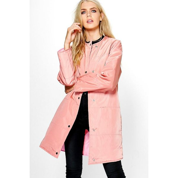 BOOHOO Abigail Quilted Jacket - Wrap up in the latest coats and jackets and get out-there...