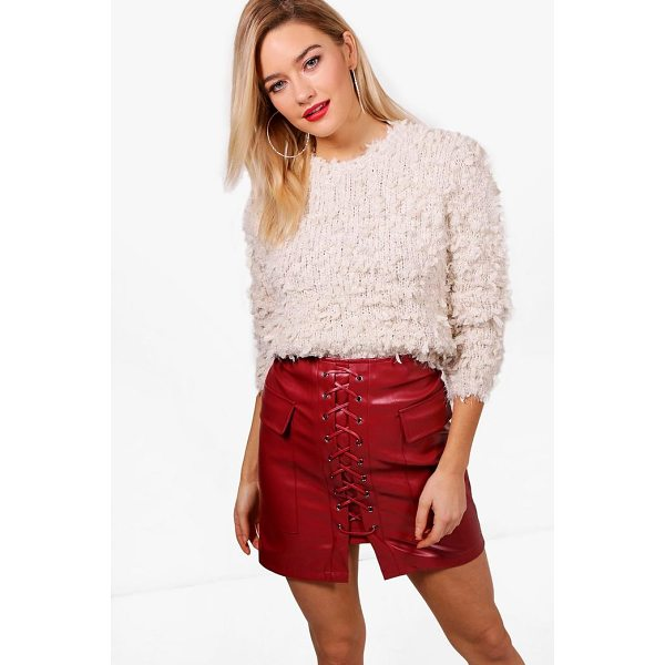 BOOHOO Adriana Fluffy Popcorn Yarn Jumper - Nail new season knitwear in the jumpers and cardigans that...