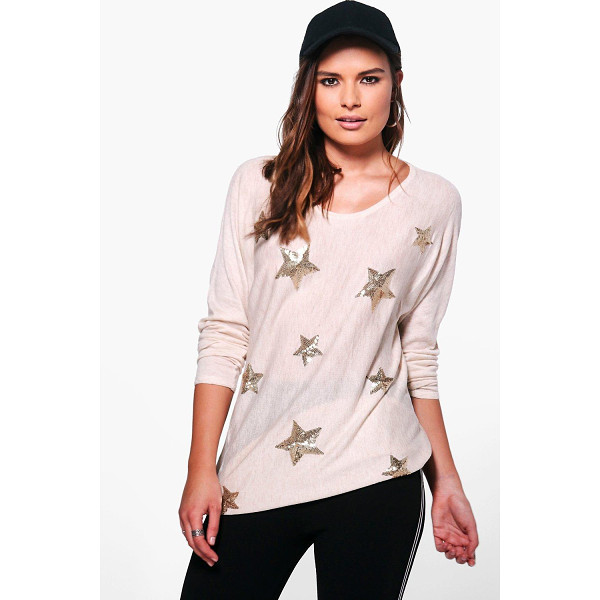 BOOHOO Aimee Sequin Star Jumper - Nail new season knitwear in the jumpers and cardigans that...
