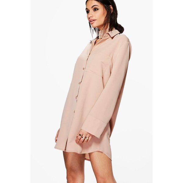 BOOHOO Akhila Choker Shirt Dress - Dresses are the most-wanted wardrobe item for day-to-night...