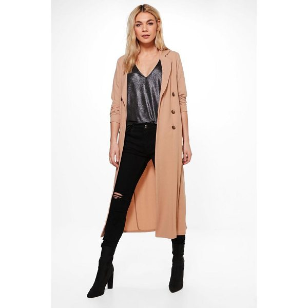 BOOHOO Alana Double Breasted Military Duster - Wrap up in the latest coats and jackets and get out-there...