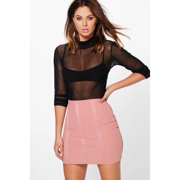 BOOHOO Alea Panelled Scuba Mini Skirt - Skirts are the statement separate in every wardrobe This...