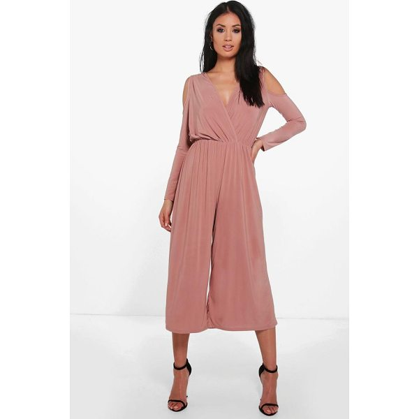 BOOHOO Alice Cold Shoulder Skinny Culotte Jumpsuit - Nail new season knitwear in the jumpers and cardigans that...