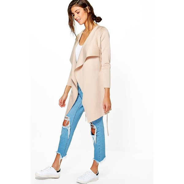 BOOHOO Alice Scuba Duster - Wrap up in the latest coats and jackets and get out-there...