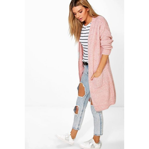 BOOHOO Alicia Oversized Boyfriend Cardigan - Nail new season knitwear in the jumpers and cardigans that...