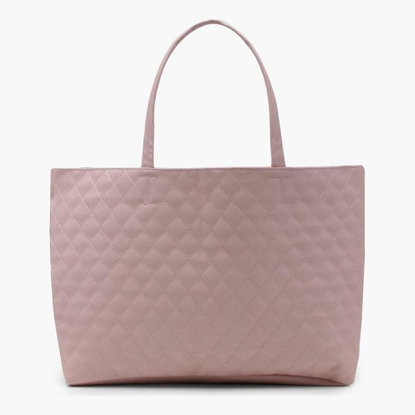 BOOHOO Alicia Quilted Shopper Bag - Add attitude with accessories for those fashion-forward...